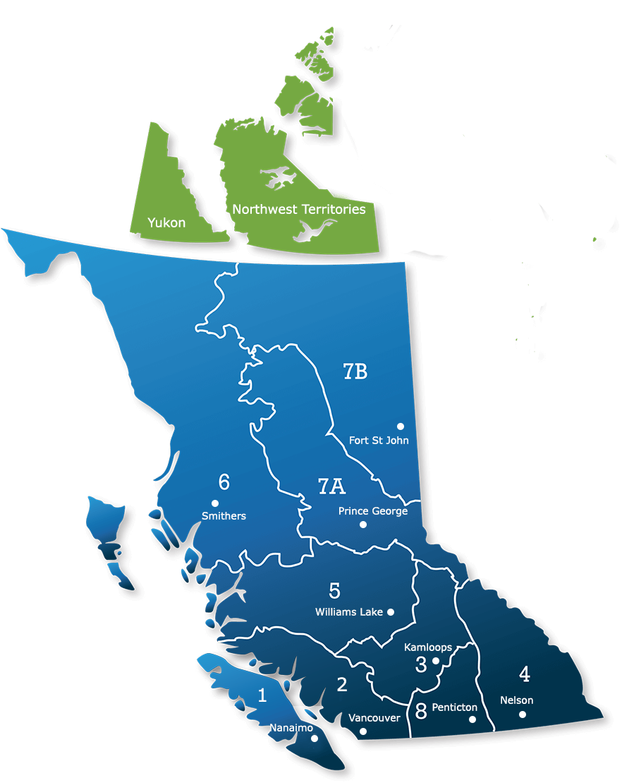 Map of BC Regions