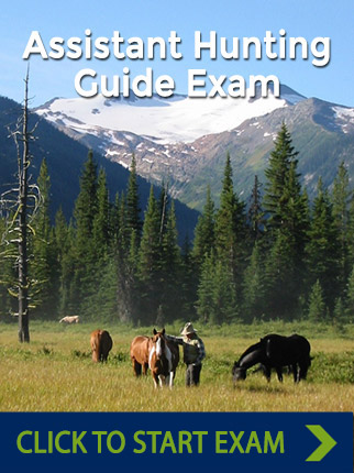 Assistant guide certification, hunting exam, goabc canada.